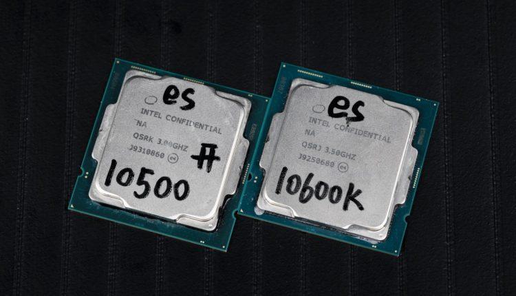 Intel Core 10500 Intel Core 10600K processeur CPU test