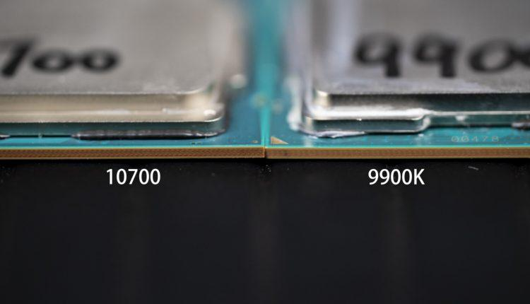 Intel Core 10700 Intel Core 9900k processeur comparaison CPU test