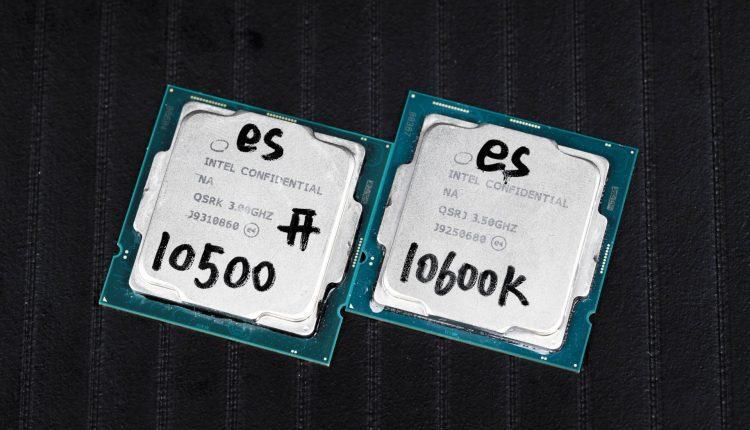 Intel Core i7 10700 Core i5 10600K processeur cpu test