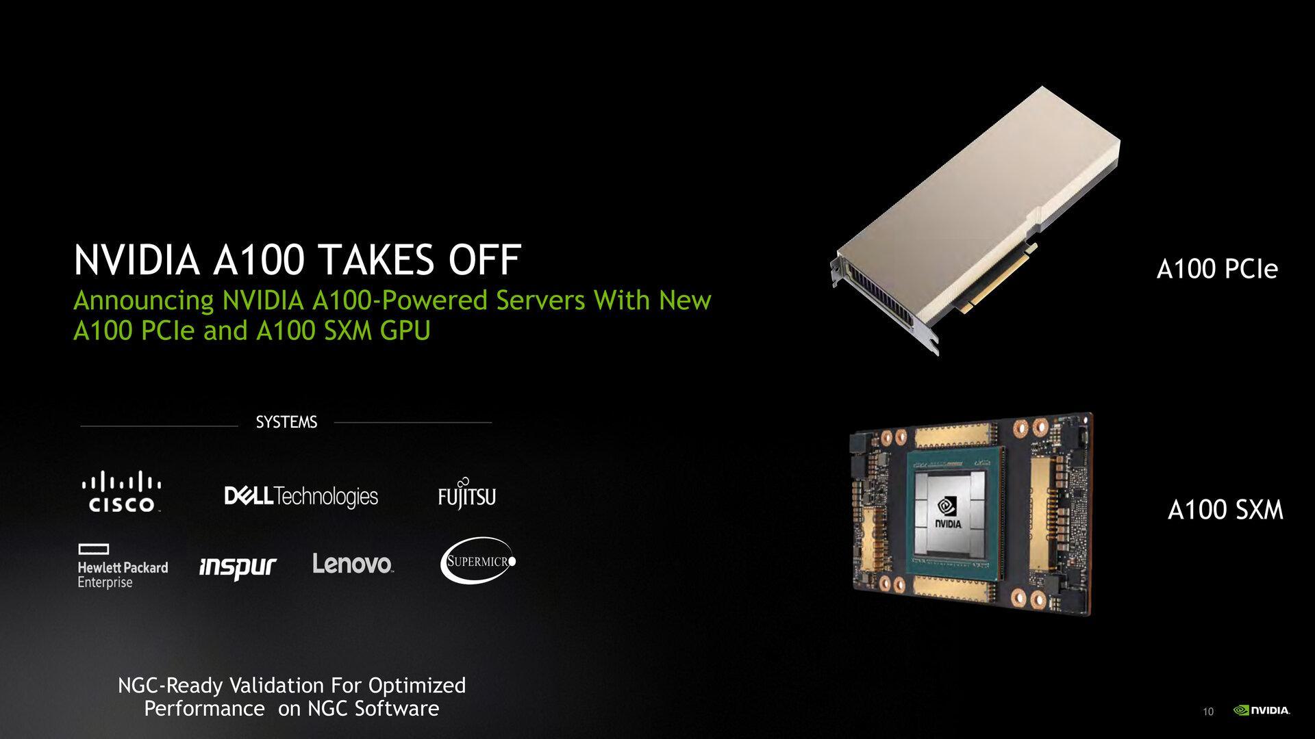 Nvidia Accelerator A100 Pcie Et A100 Swm Card Carte Graphique
