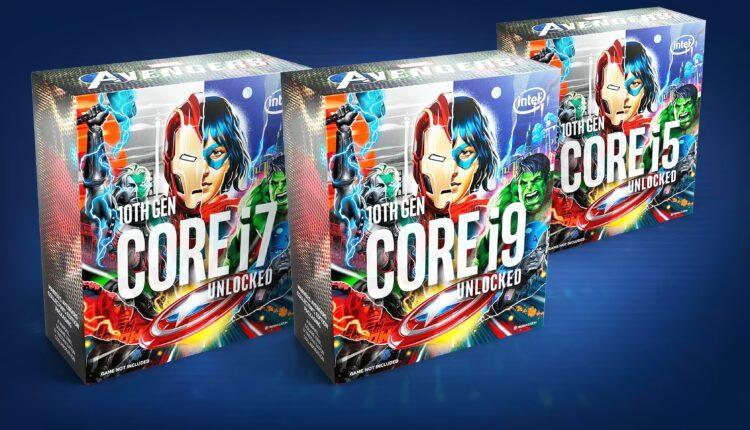 Intel Confirme Les Processeurs Marvel Avengers Collector Edition