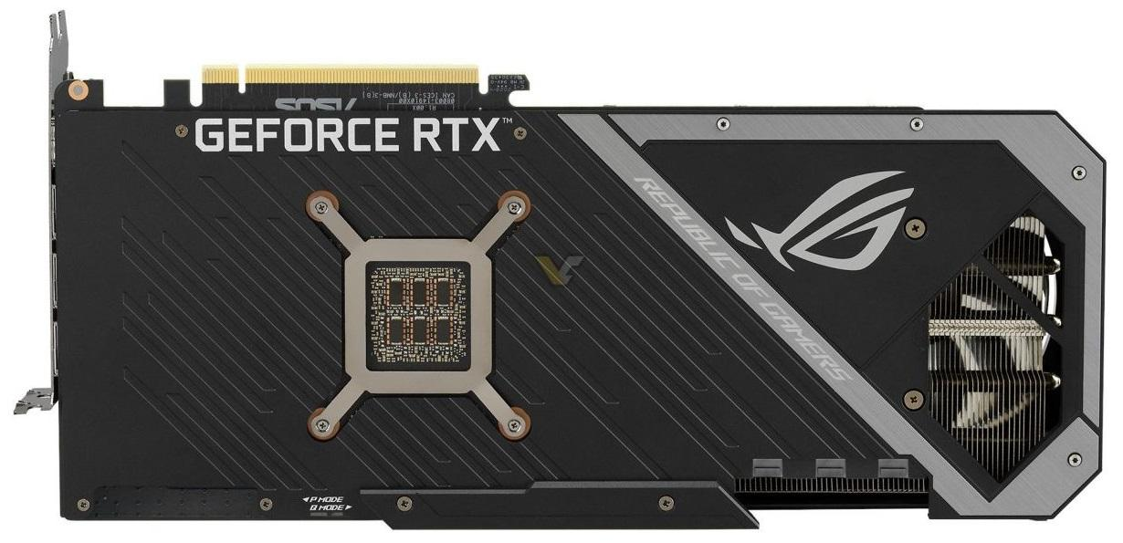 Asus Rog Strix Geforce Rtx 3080 Oc Backplate