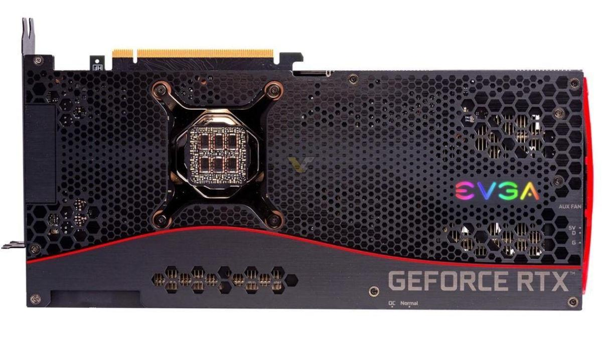 Evga Geforce Rtx 3080 Ftw Ultra Backplate Top