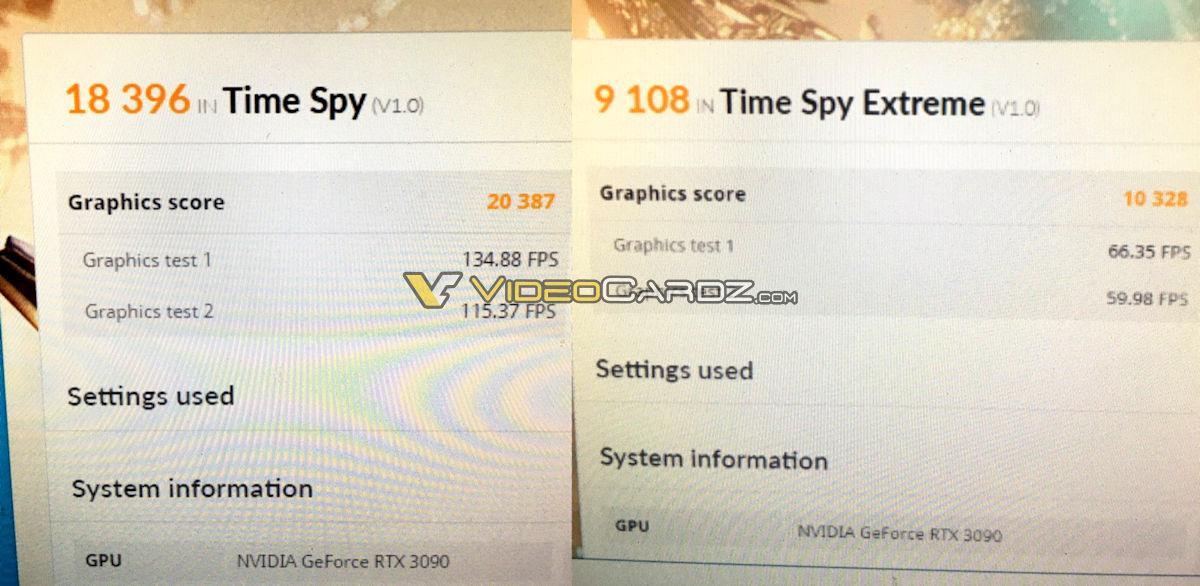 Nvidia Geforce Rtx 3090 3dmark Timespy Scores