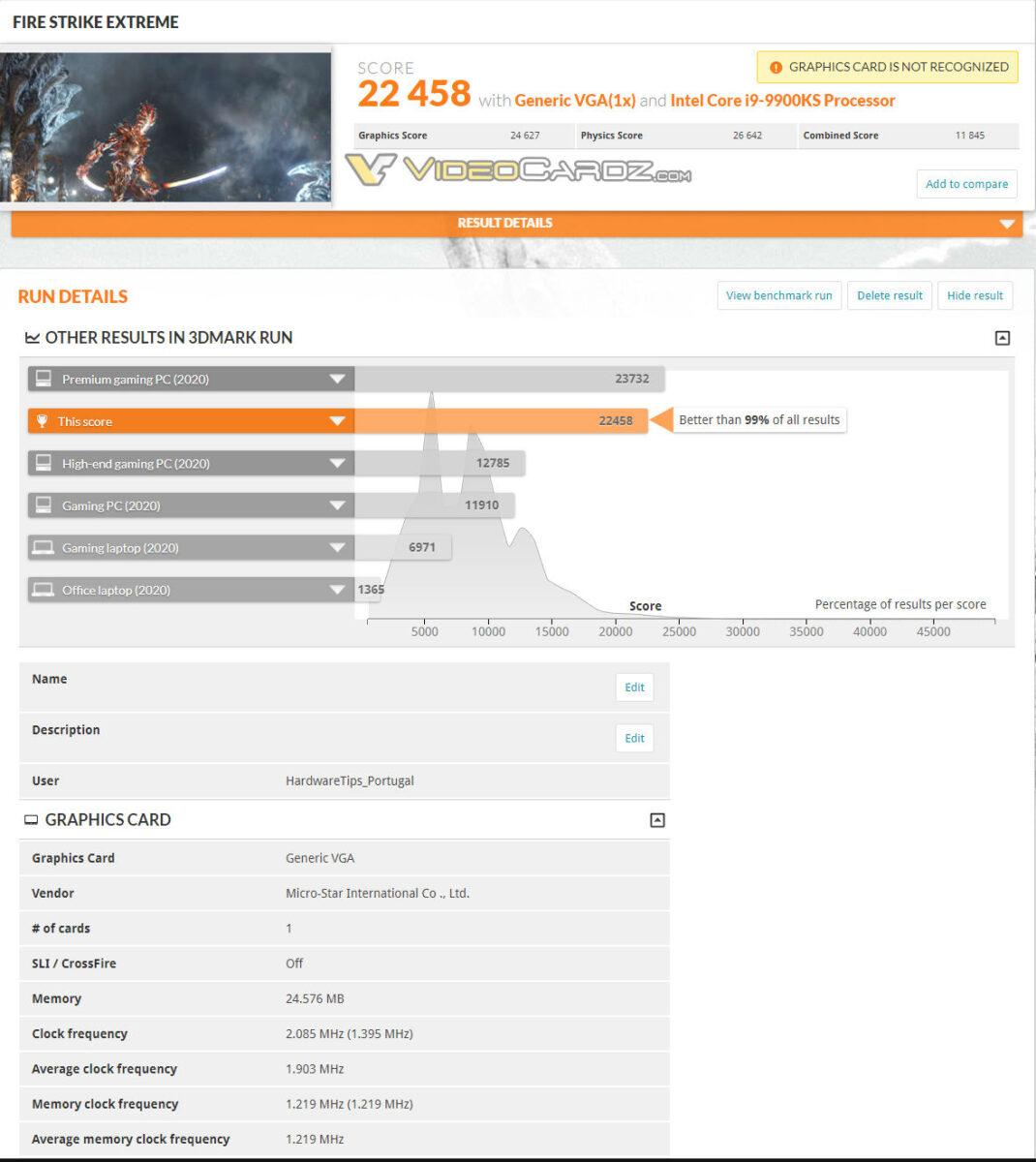 Nvidia Geforce Rtx 3090 Scores 3dmark Time Spy 3 Extreme