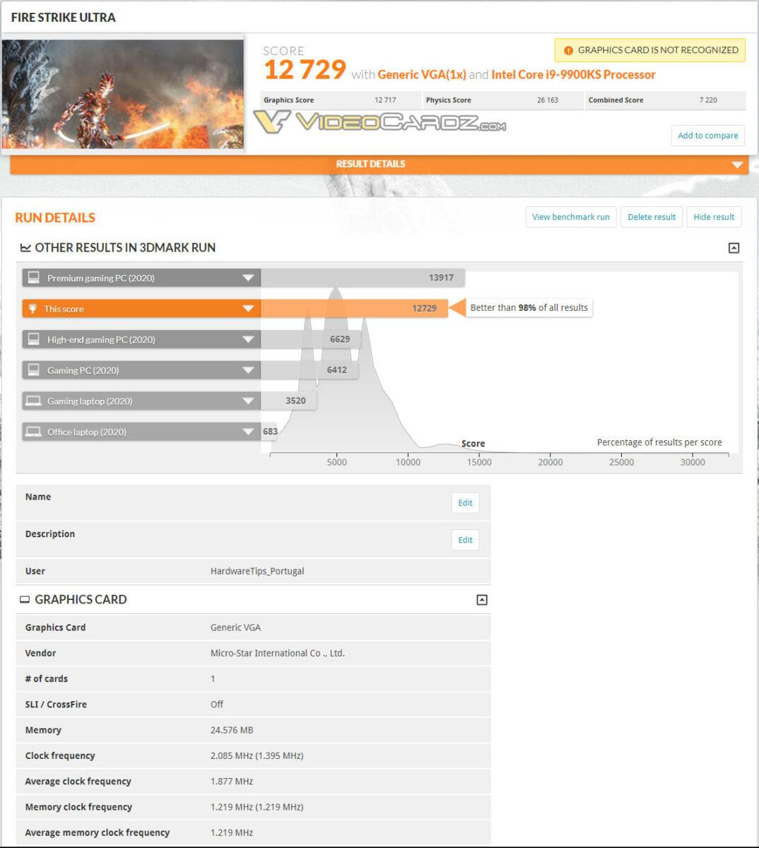 Nvidia Geforce Rtx 3090 Scores 3dmark Time Spy 3 Ultra