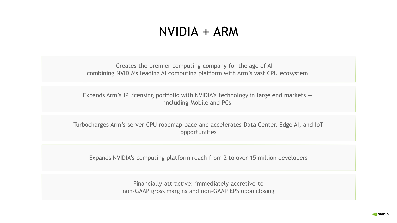 Nvidia Rachète Arm Pour 40 Milliards De Dollars Ai 2
