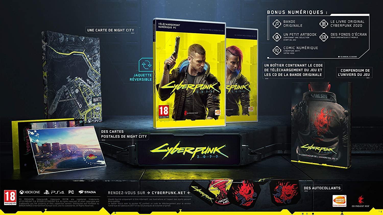 Cyberpunk 2077 Amazon Box Bundle Accessoire Goodies