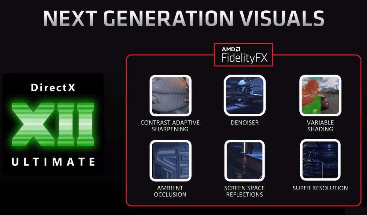 Amd Radeon Rx 6000 Fidelityfx Direct X 12 Ultimate