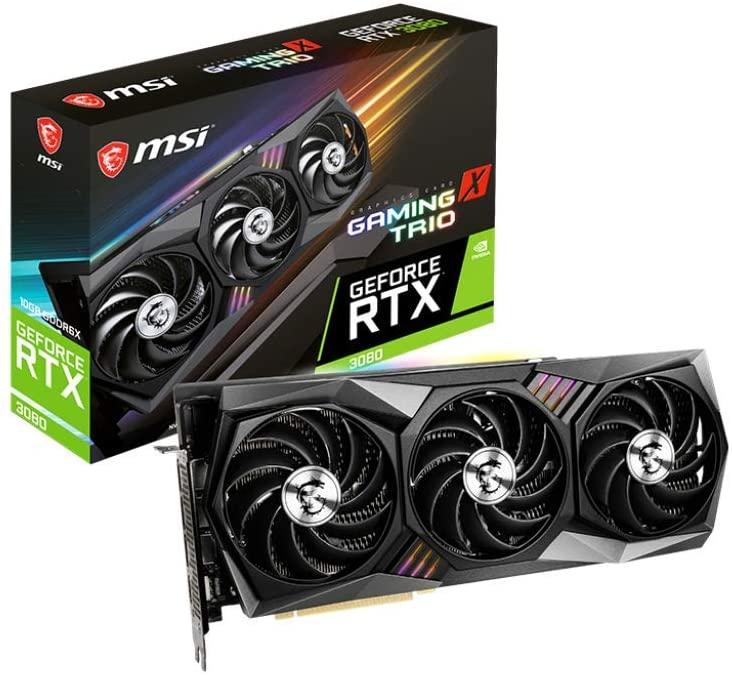 Msi Gaming Geforce Rtx 3080 10go Gdrr6x 320 Bit Carte Graphique