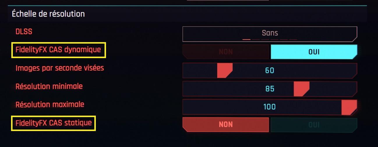 Cyberpunk 2077 Fidelityfx Cas