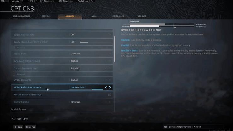 Warzone Comment Activer Nvidia Reflex
