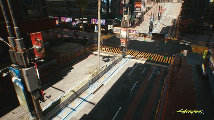 Cyberpunk 2077 Night City Wire Ray Tracing
