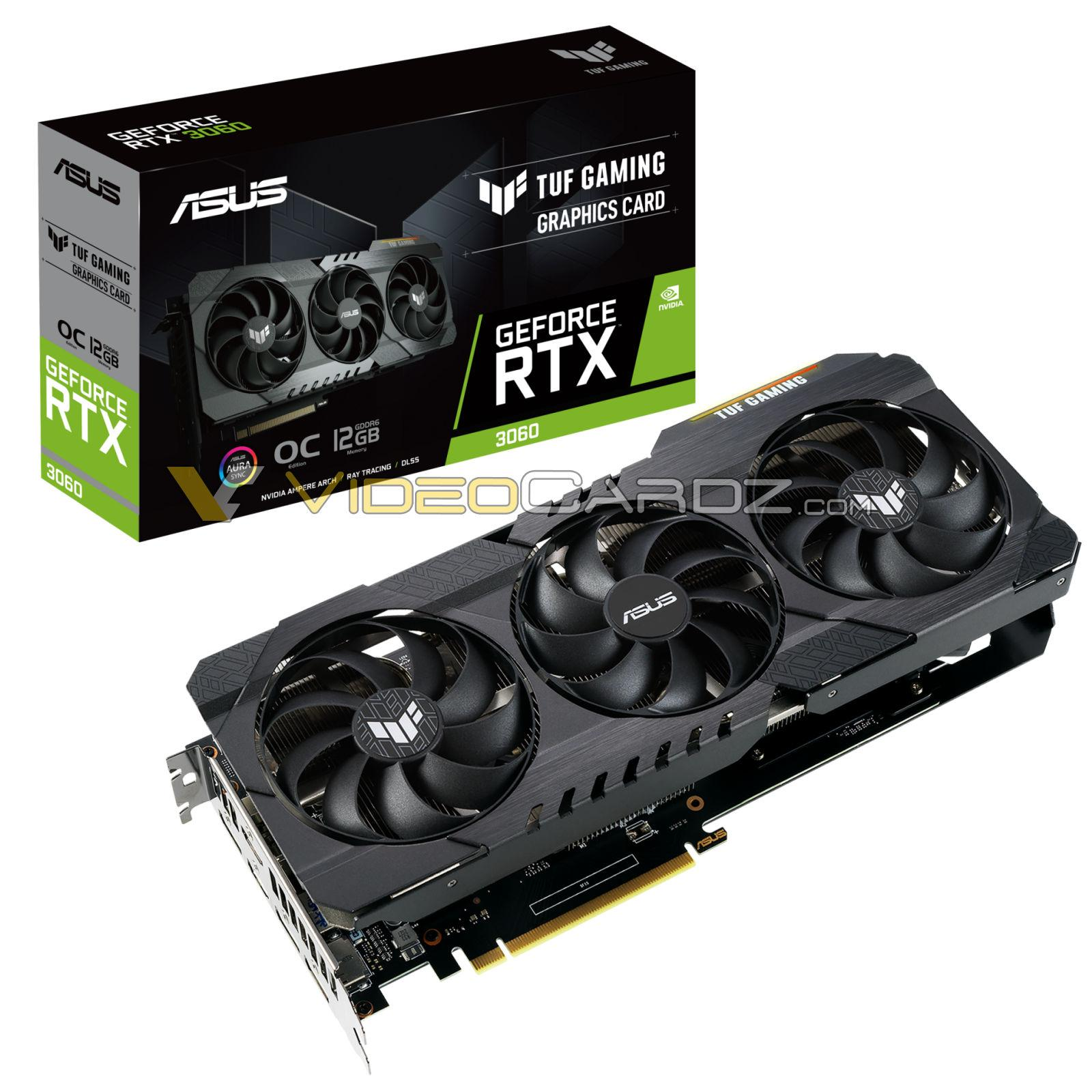 Asus Geforce Rtx 3060 Tuf Gaming 12 Go Gddr6 Graphics Card