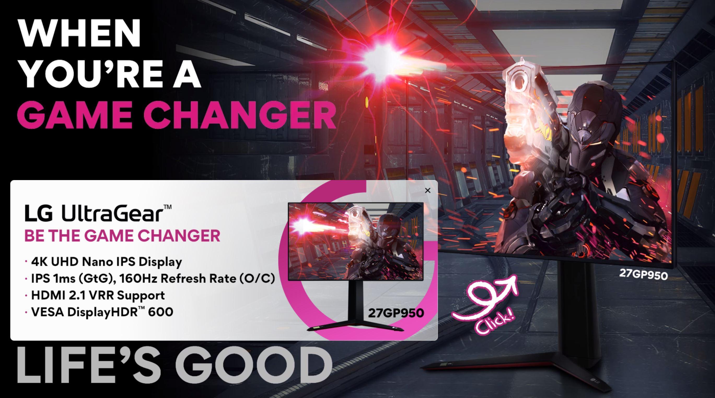 Lg Ultragear 27gp950 écran Pc 4k Hdmi 2.1