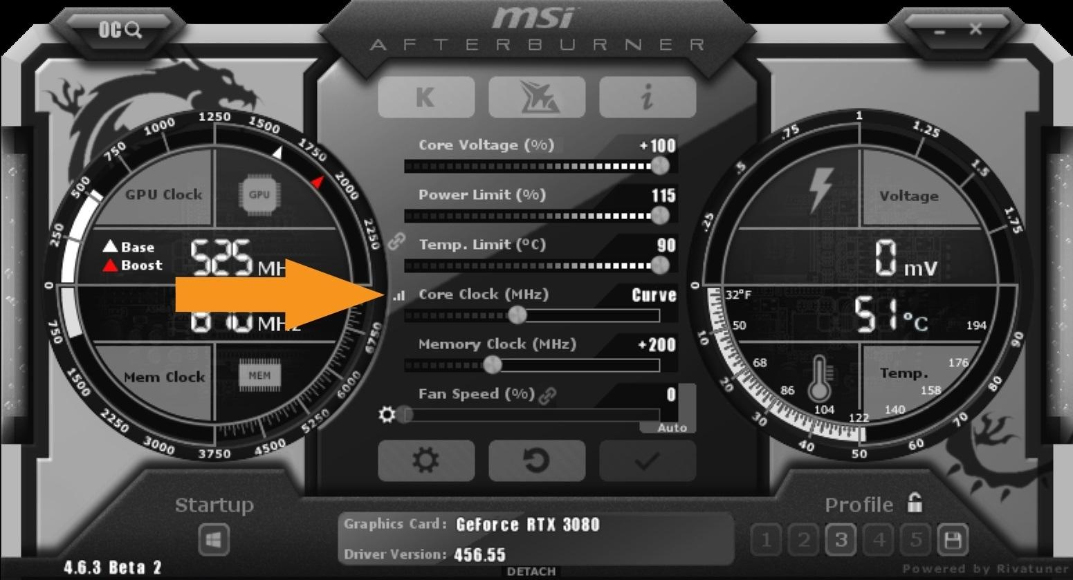 Nvidia Geforce Rtx 3080 Guide Overclocking Msi After Burner Core Clock