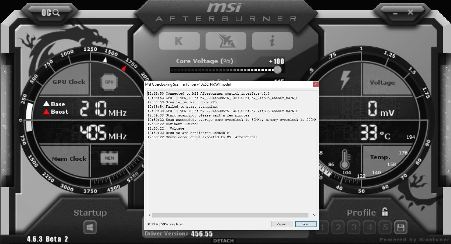 Nvidia Geforce Rtx 3080 Guide Overclocking Msi After Burner Scanner Driver