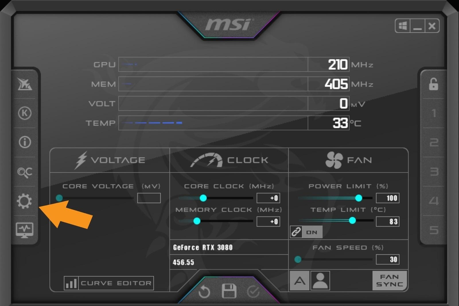 Nvidia Geforce Rtx 3080 Guide Overclocking Msi After Burner