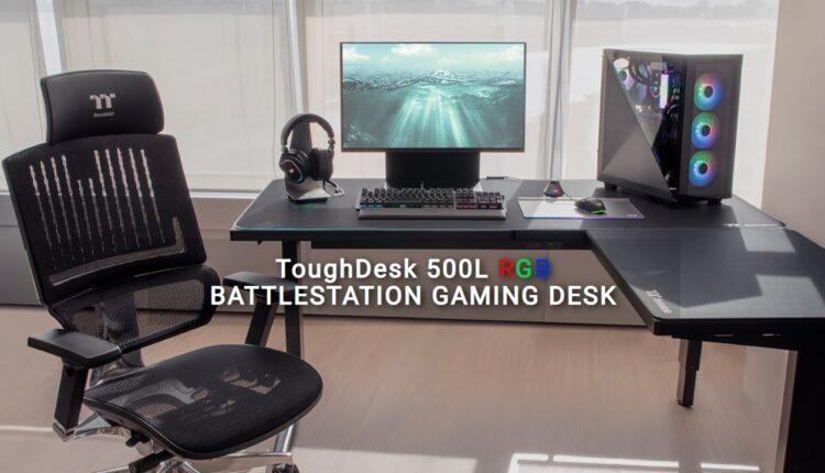 Thermaltake Toughdesk 500l Rgb Battlestation Desk Bureau Gamer Gaming Jeu Led
