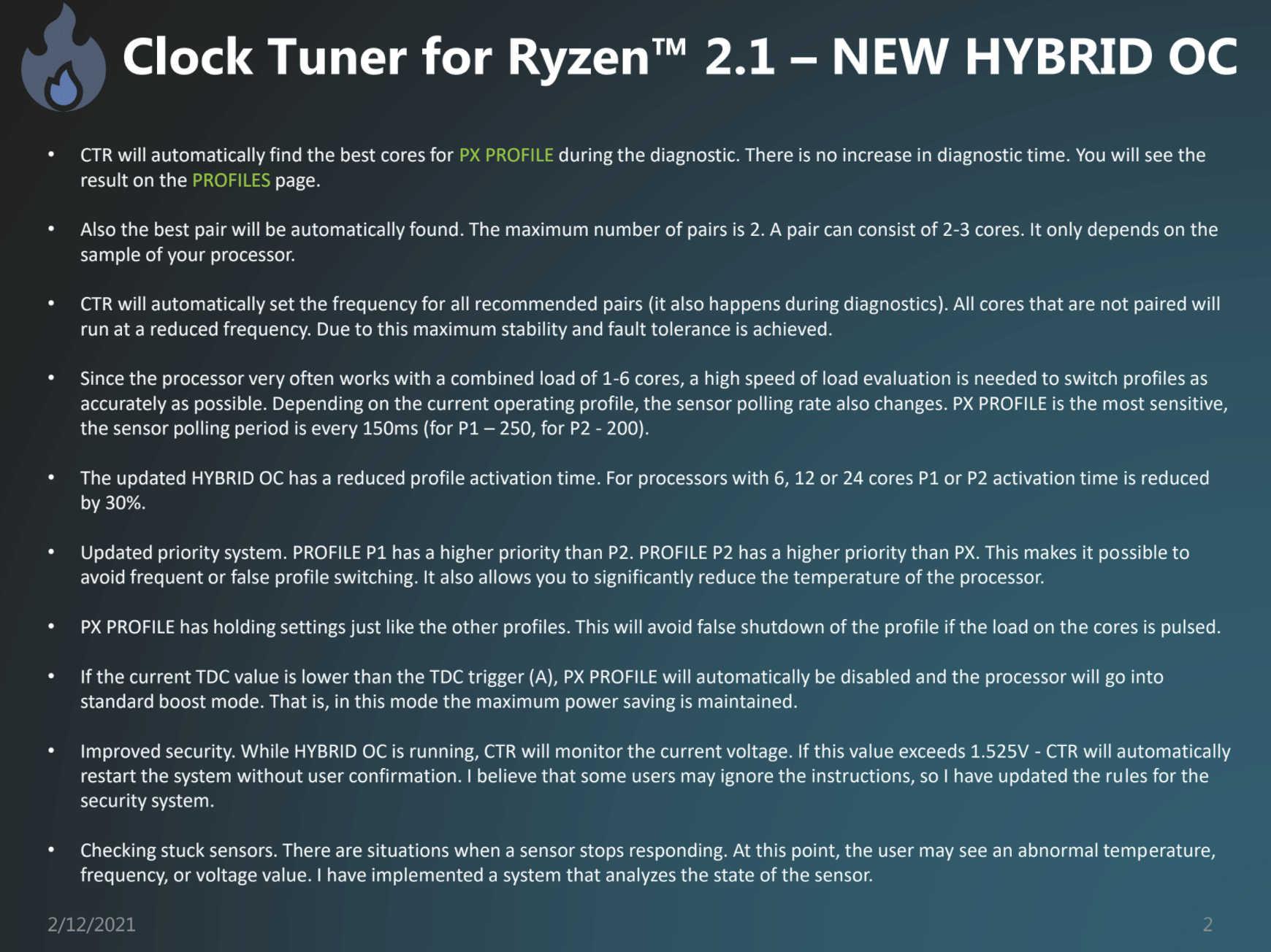 Clocktuner For Ryzen 2.1 Ctr Tool Hybrid Oc Ryzen 5000 Trigger