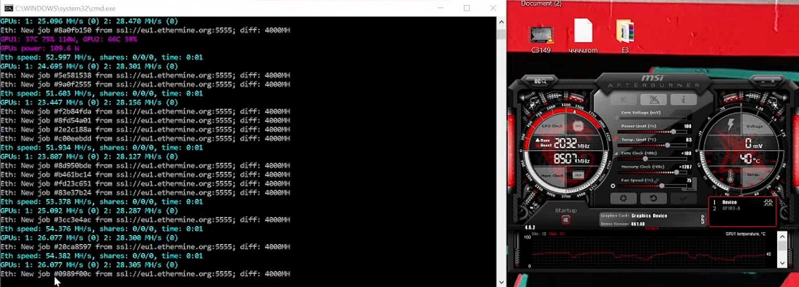 Rtx 3060 Mining Crypto Hashrate Test