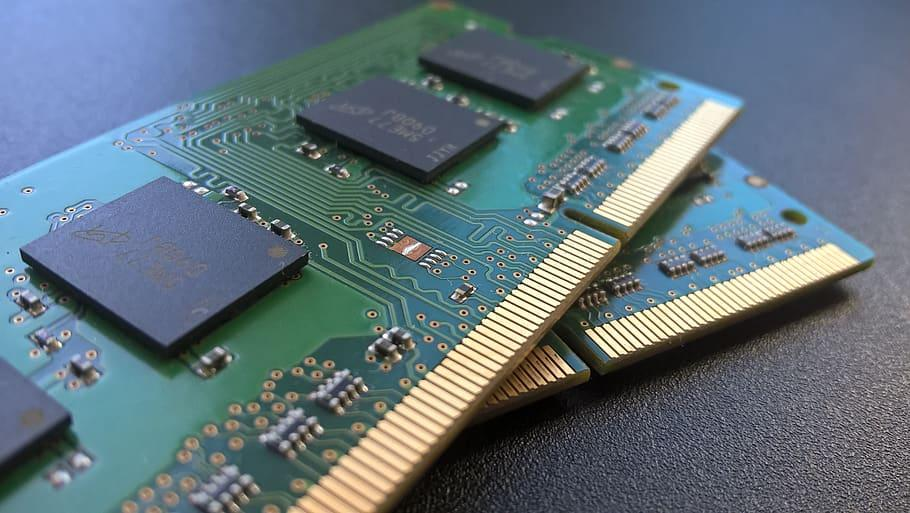Chip Green Gold Circuit Memory Ddr3 Ddr4