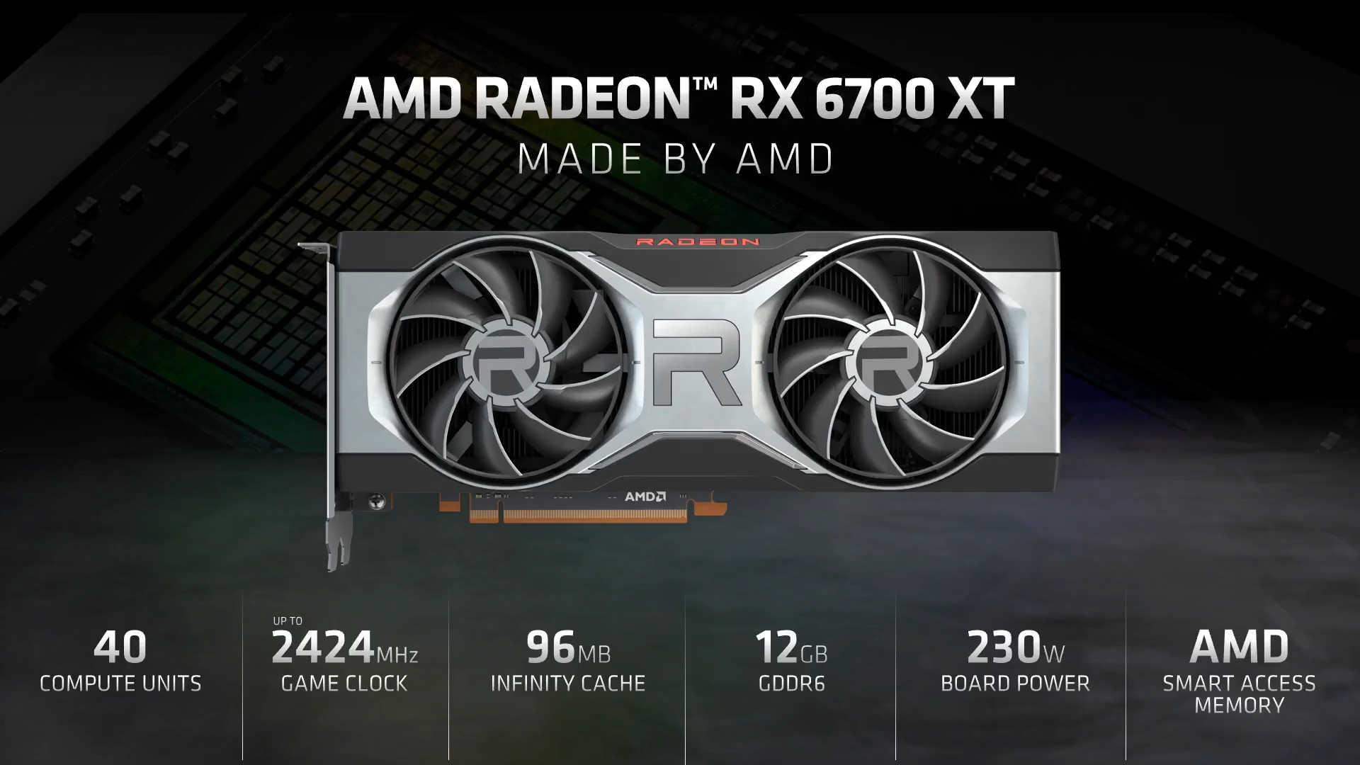 Amd Radeon Rx 6700 Xt Caracteristique