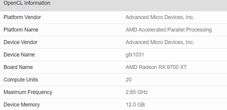 Amd Radeon Rx 6700 Xt Specification