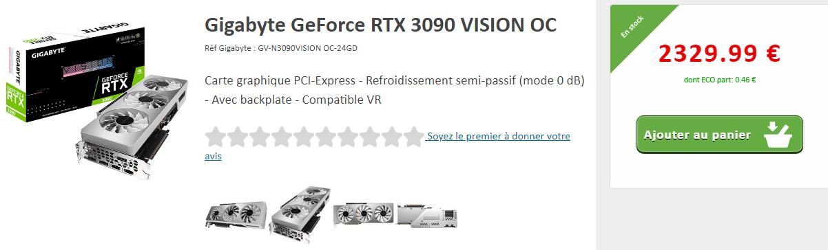 Gigabyte Geforce Rtx 3090 Vision Oc