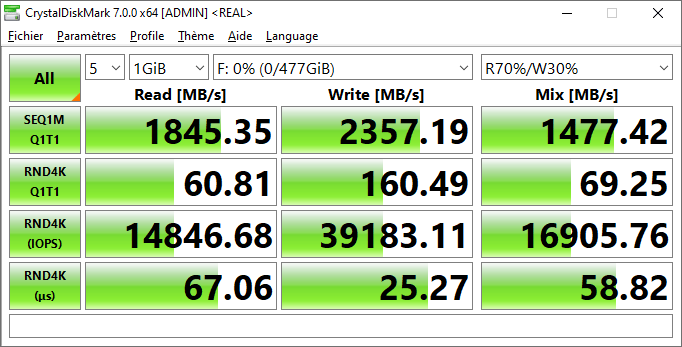 Lexar Ssd Nm620 512 Go Gb Crystal Disk Mark 7 Real Performance Benchmark Omgpu Test