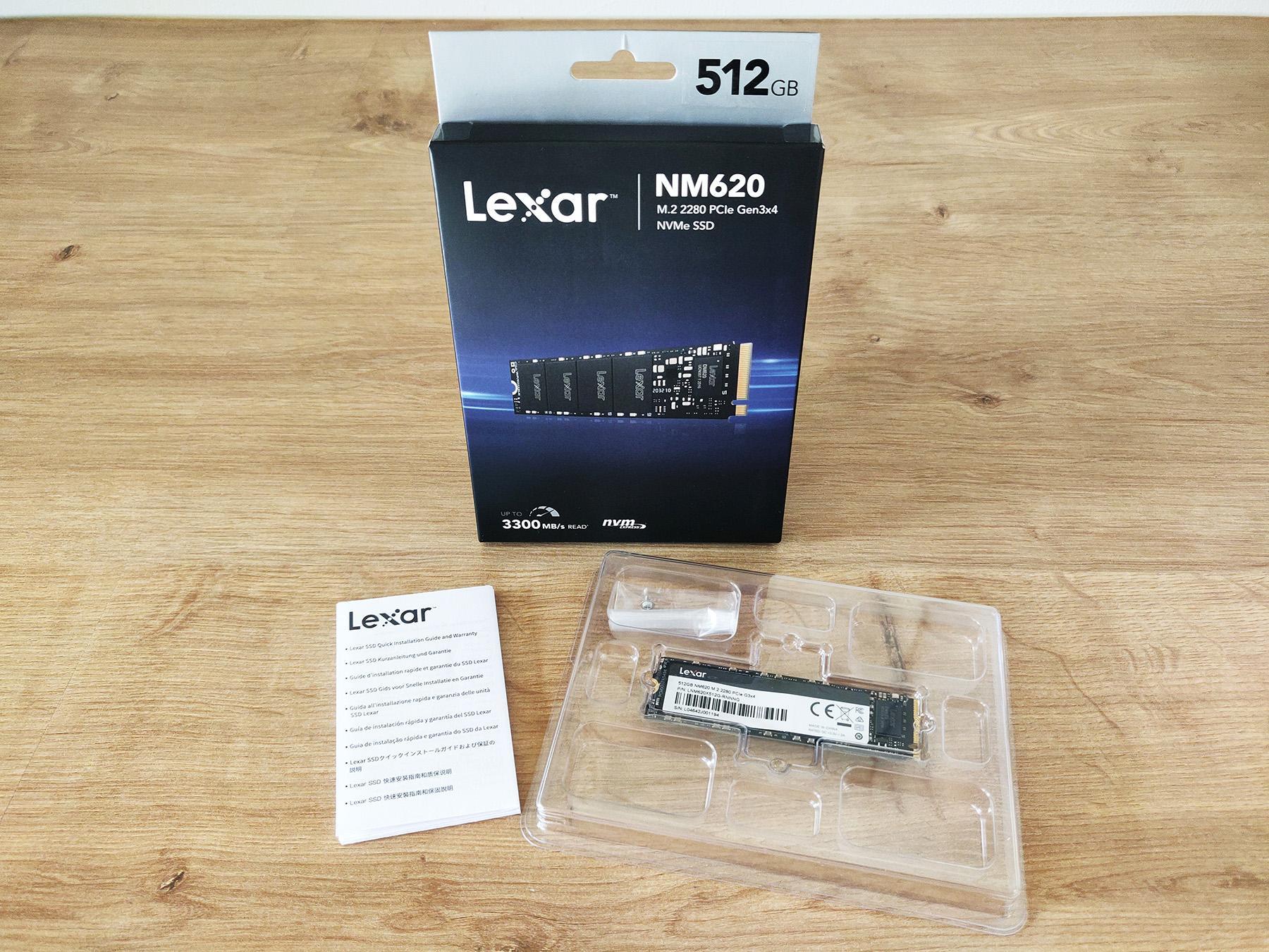 Lexar Ssd Nm620 Box Packaging Bundle 512 Omgpu Test