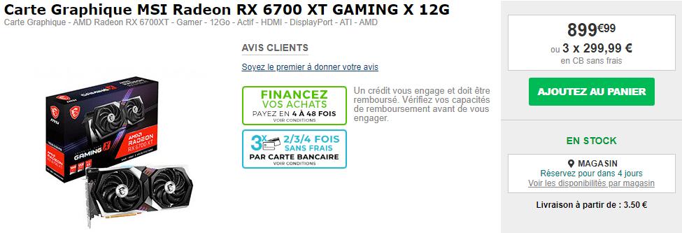 Msi Radeon Rx 6700 Xt Gaming X 12go En Stock