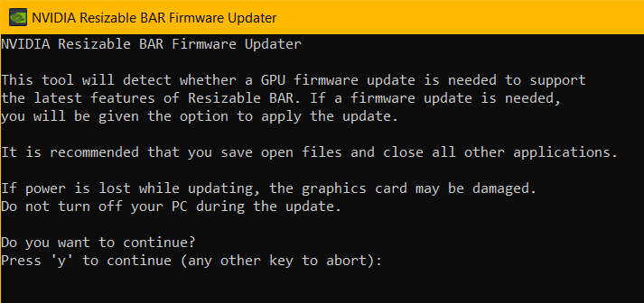 Nvidia Resizable Bar Firmware Updated Bios Rtx 3000
