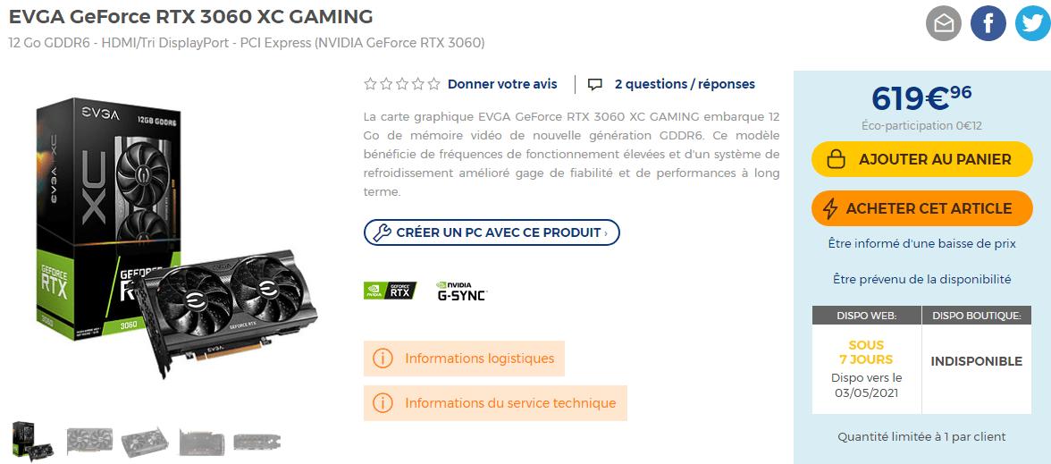 Evga Geforce Rtx 3070 Xc Gaming En Stock
