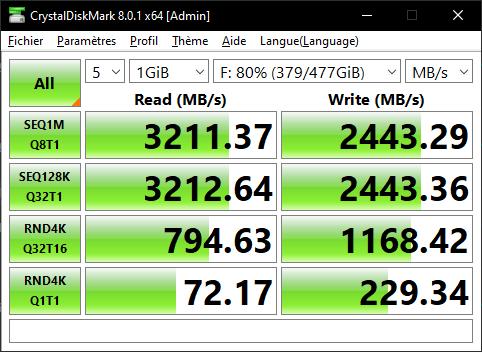 Lexar Ssd Nm620 512 Go Gb Crystal Disk Mark Benchmark Omgpu Test Nvme Run