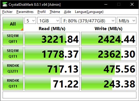 Lexar Ssd Nm620 512 Go Gb Crystal Disk Mark Benchmark Omgpu Test Run