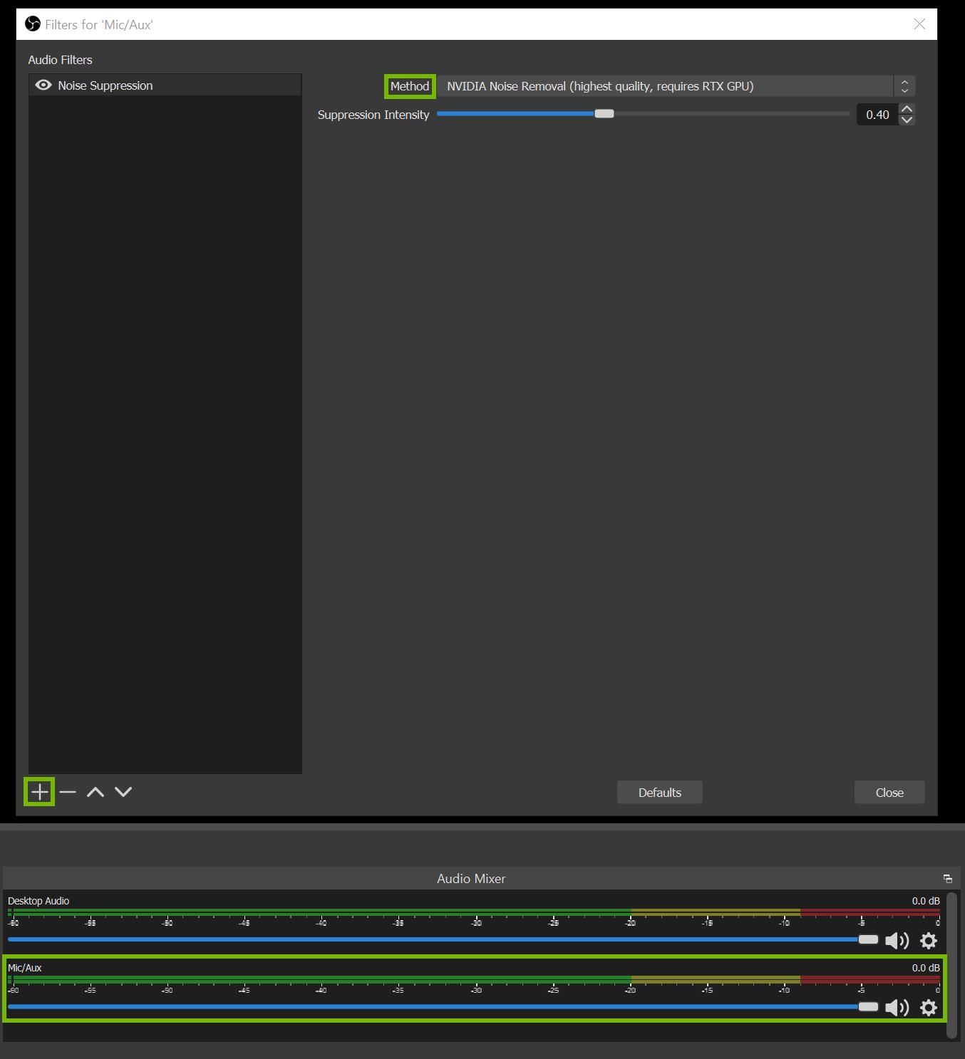 Obs Nvidia Rtx Noise Suppression Filter Open Broadcaster Software