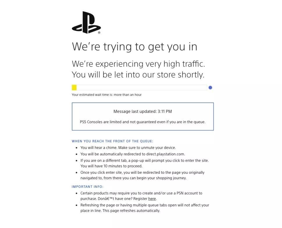 Sony Direct Ps5 Queue