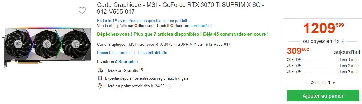 Msi Rtx 3070 Ti Stock