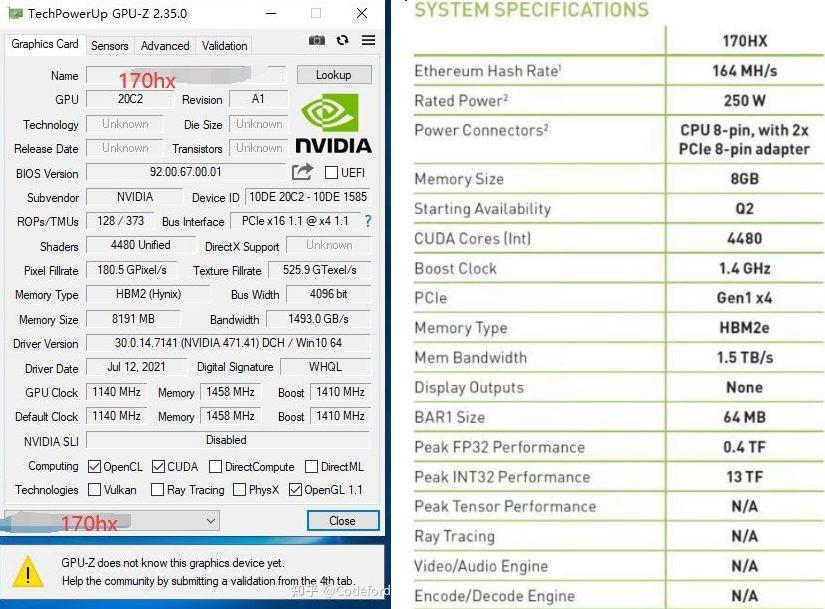 Nvidia Cmp 170hx Hashrate Mining